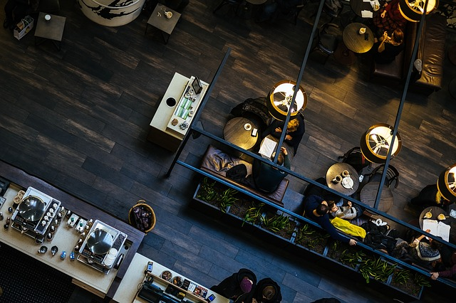Restaurant von oben